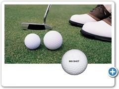 * BIG SHOT GOLFBALL......20% bigger golfball is much easier to hit and more fun to play