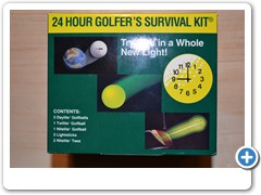 24 HOUR GOLFERS SURVIVAL KIT......contains everything you need for day and nitetime play.