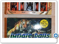 JUNGLEBALLS....guaranteed to bite the green and make you a scratch golfer