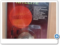 GOLFBALL NITELITE....electronic golfball plugs in the wall as a night light.