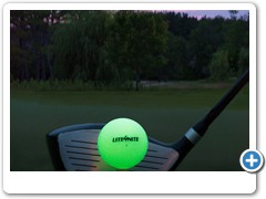 LITE4NITE Golfball...A real premium grade golf ball that drives 400 yards and Lights Up Forever!