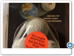 FORE-EVER GOLFBALL......increases distance up to 20 yards.  Illegal for tournaments.