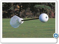 * SHORTSHOT GOLFBALL....the world's shortest distance practice real golfball.