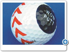 * WON PUTT GOLFBALL.....putts perfectly everytime and improves your score.