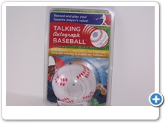 TALKING AUTOGRAPH BASEBALL....  YOUTH LEAGUE/PROMOTION MODEL