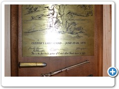 CUSTER'S LAST STAND PLAQUE.....100th anniversary plaque with arrowhead, bullet, rifle and brass battle engraving